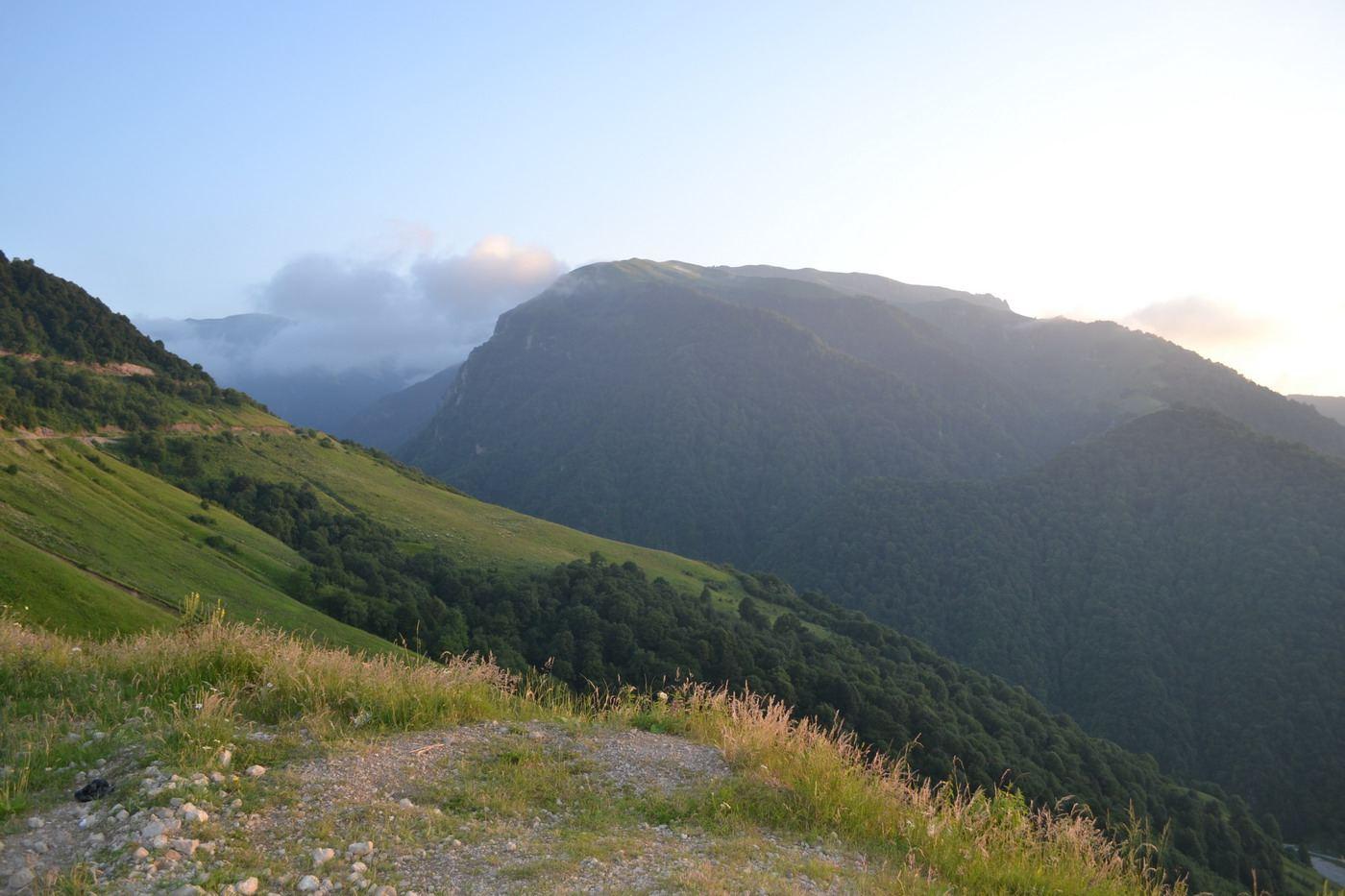чечня, горы кавказа