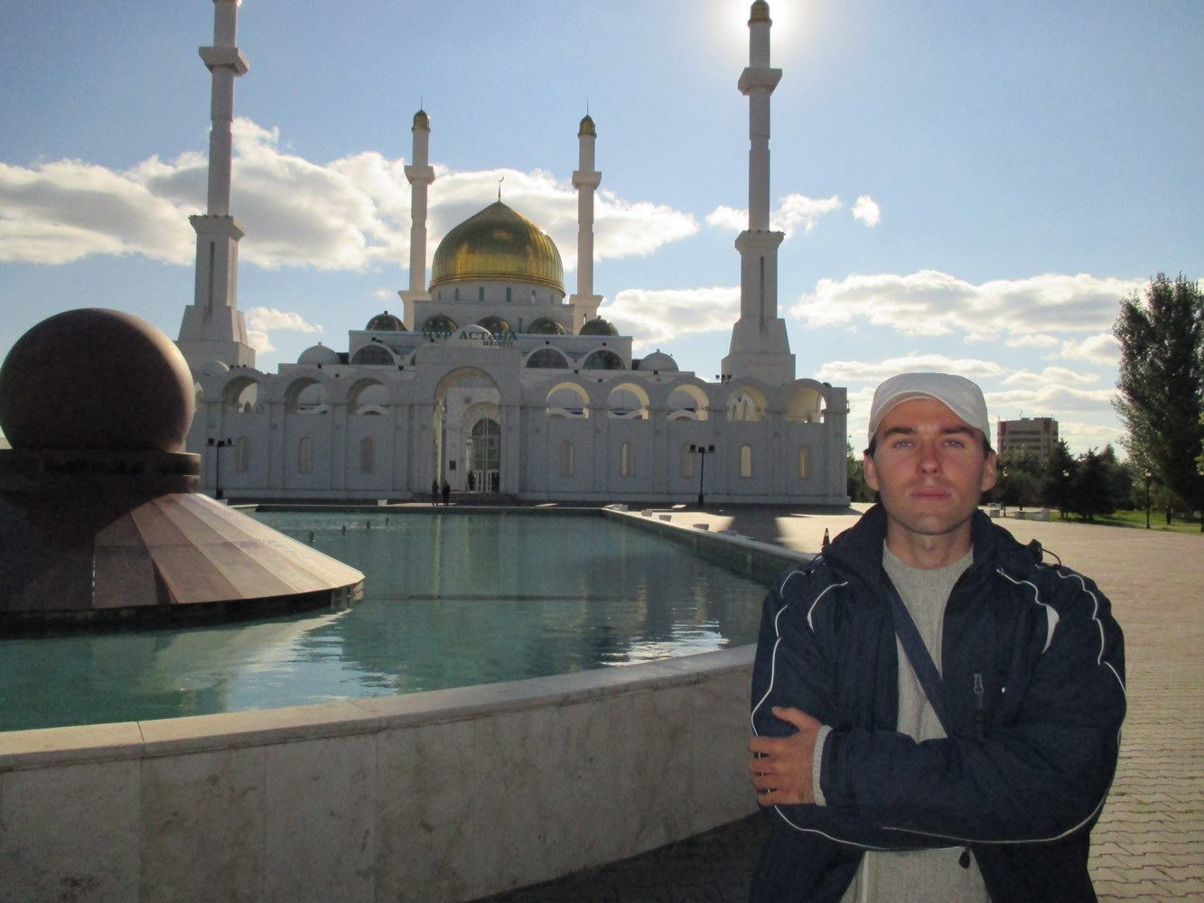 красивая мечеть. астана. казахстан