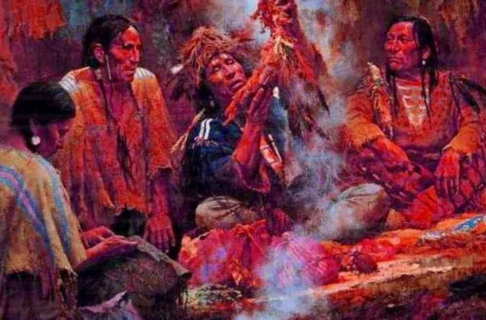индейцы ритуал галлюциногенов