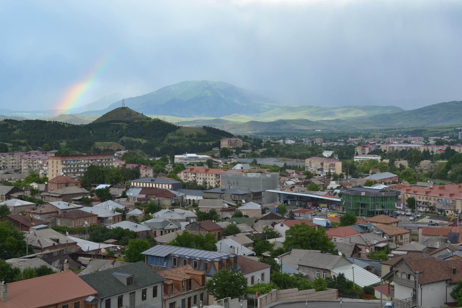 город ахальцихе, грузия, радуга