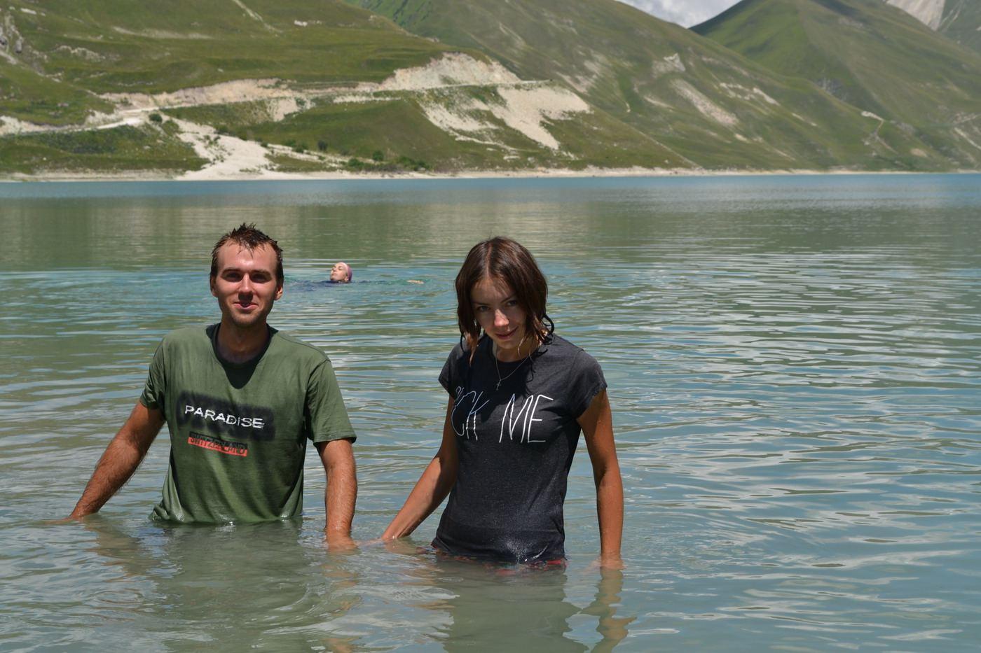 кезеной-ам, озеро, купаемся в одежде, чечня, горы