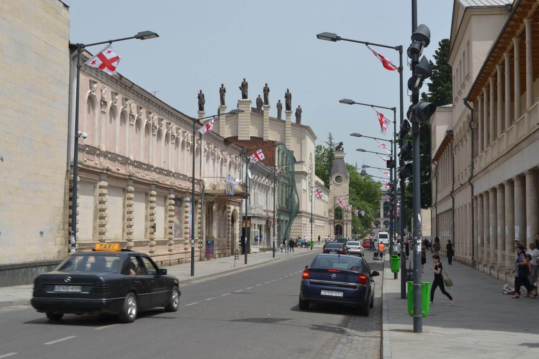 улица, кутаиси, грузия