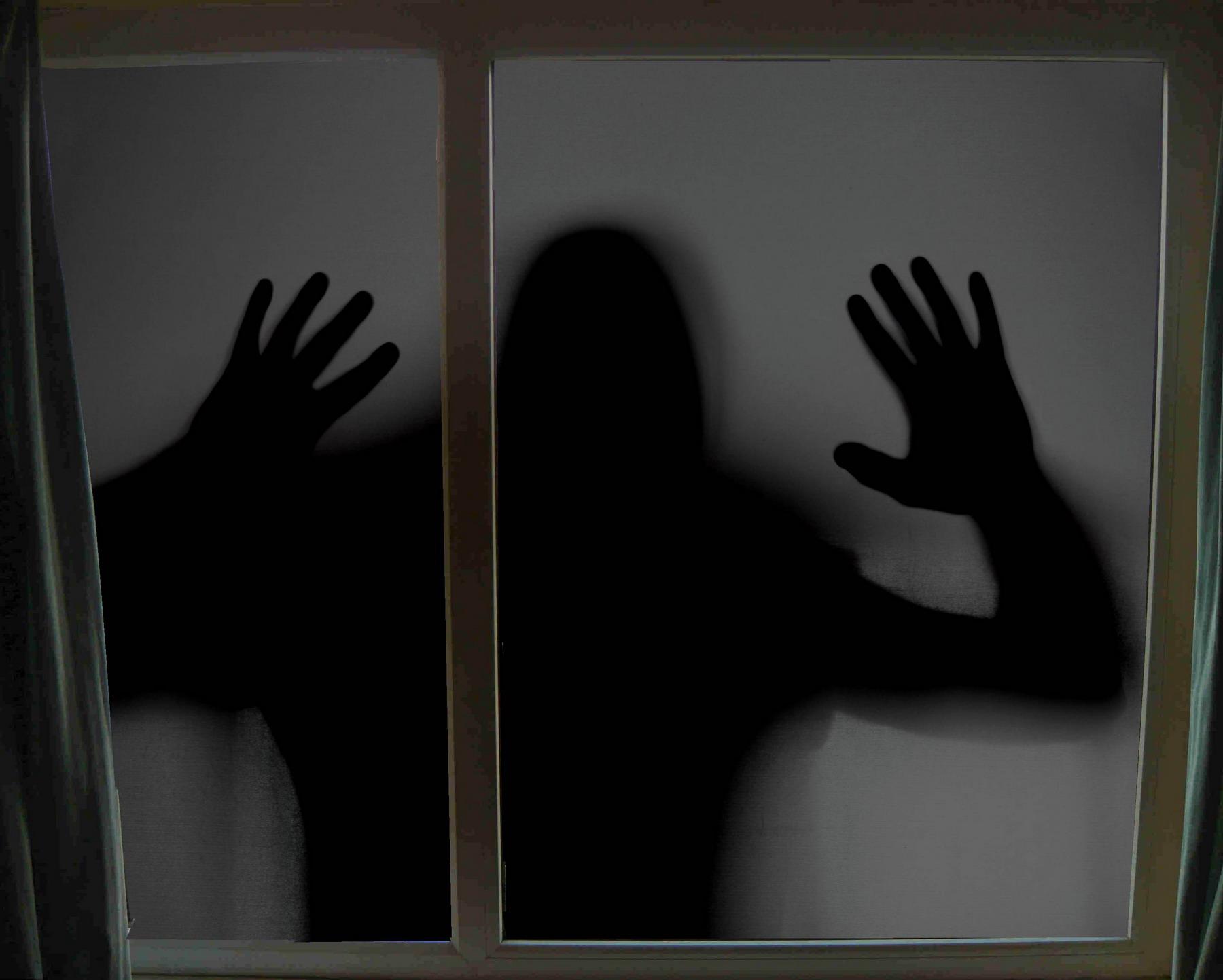 жуткий чёрный человек. синдром ночного демона