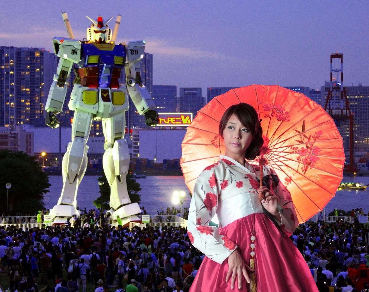 огромный китайский боевой робот. китайская девочка в традиционной одежде. сон: я супер адский разрушитель мира работающий на россию.