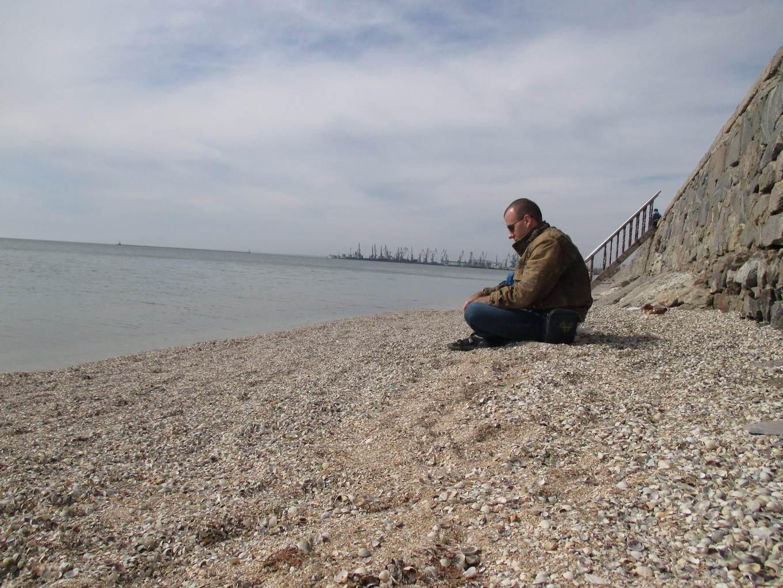 медитация. море и пляж. набережная бердянск.