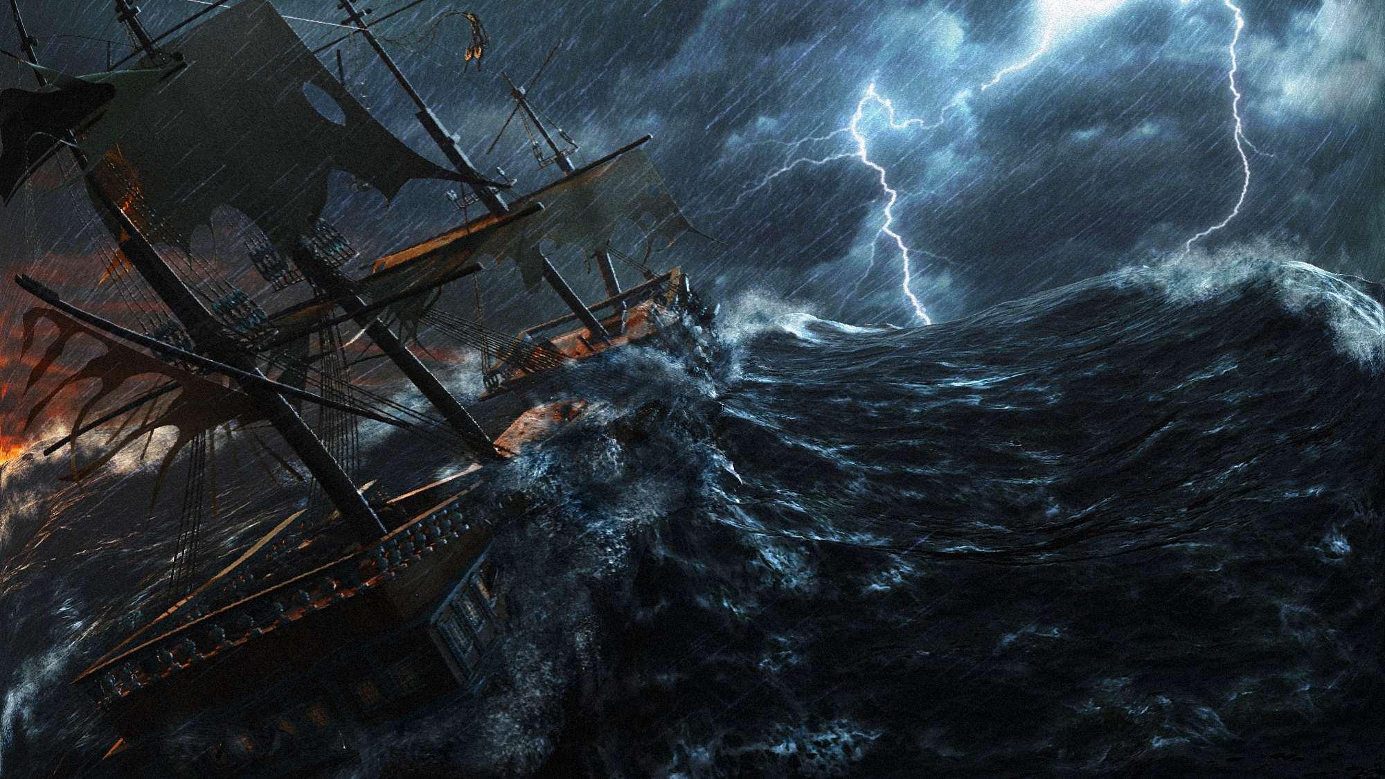корабль в шторм. параллельный мир и пророчество зелёного меча