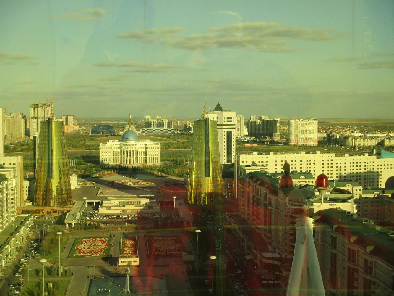 байтерек внутри. астана вид сверху. символ казахстана