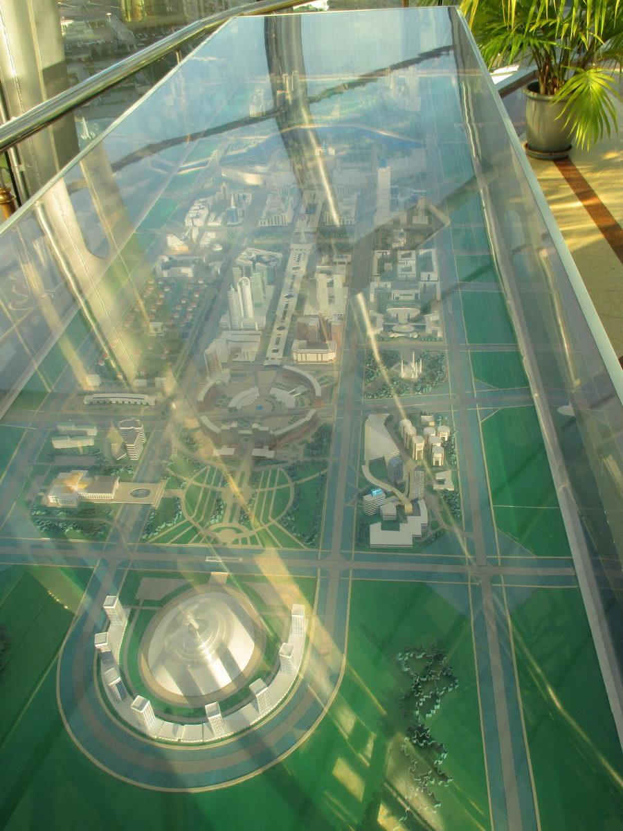 байтерек внутри. макет города астана. символ казахстана