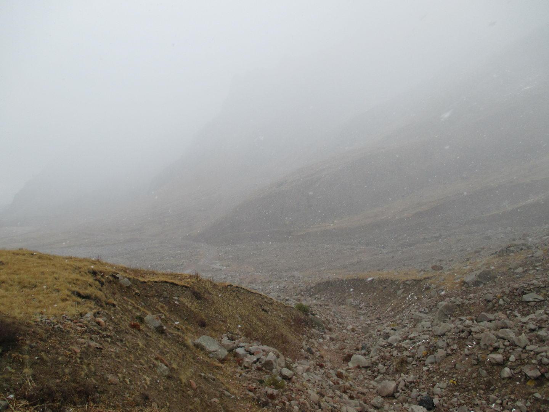 погода портится. горы алатау. казахстан
