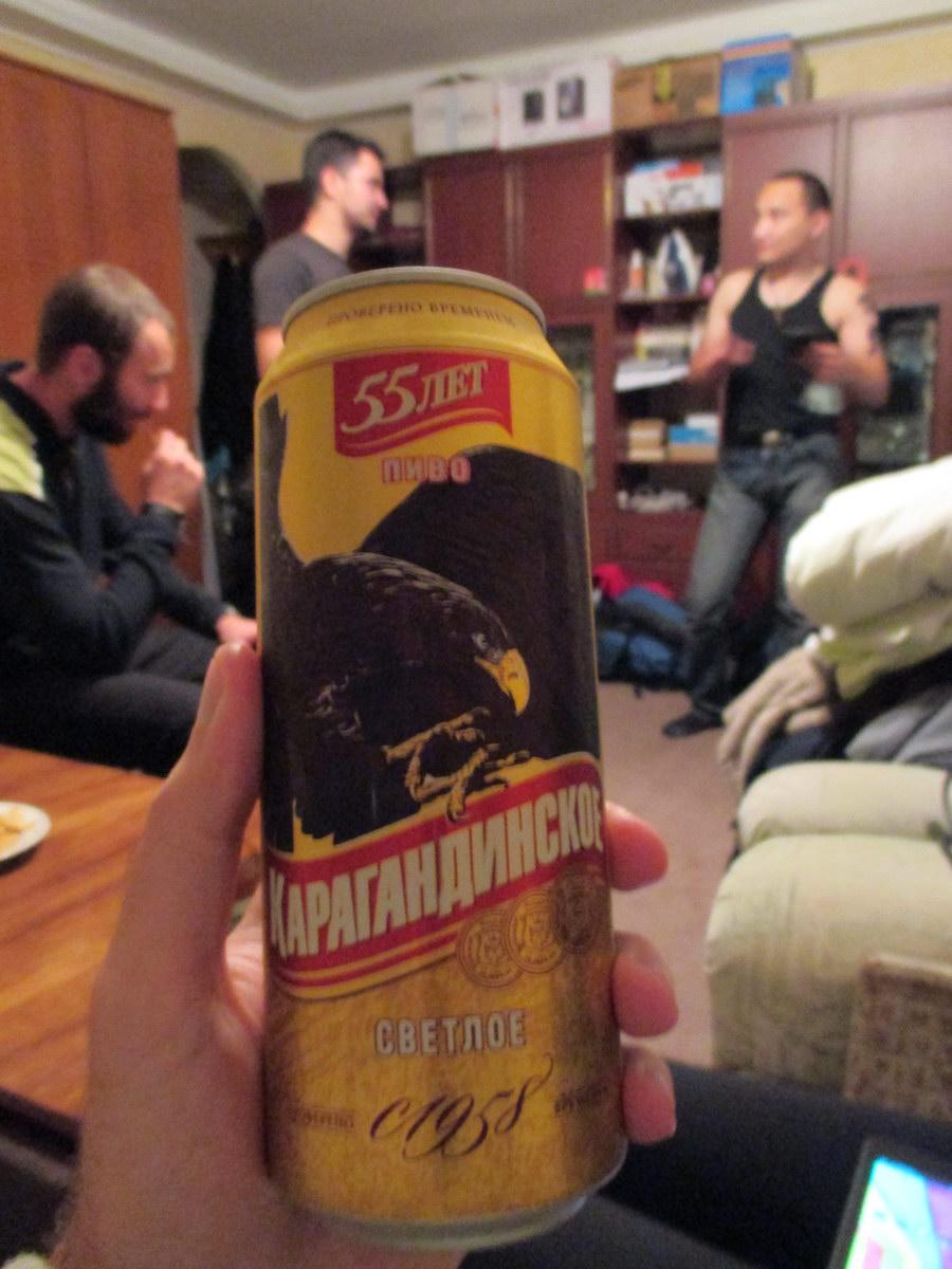 карагандинское пиво. 55 лет доверия. караганда. путешествие автостопом в казахстан