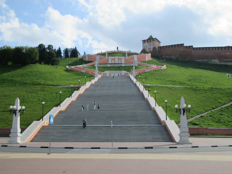 лестница. набережная нижнего новгорода, достопримечательности