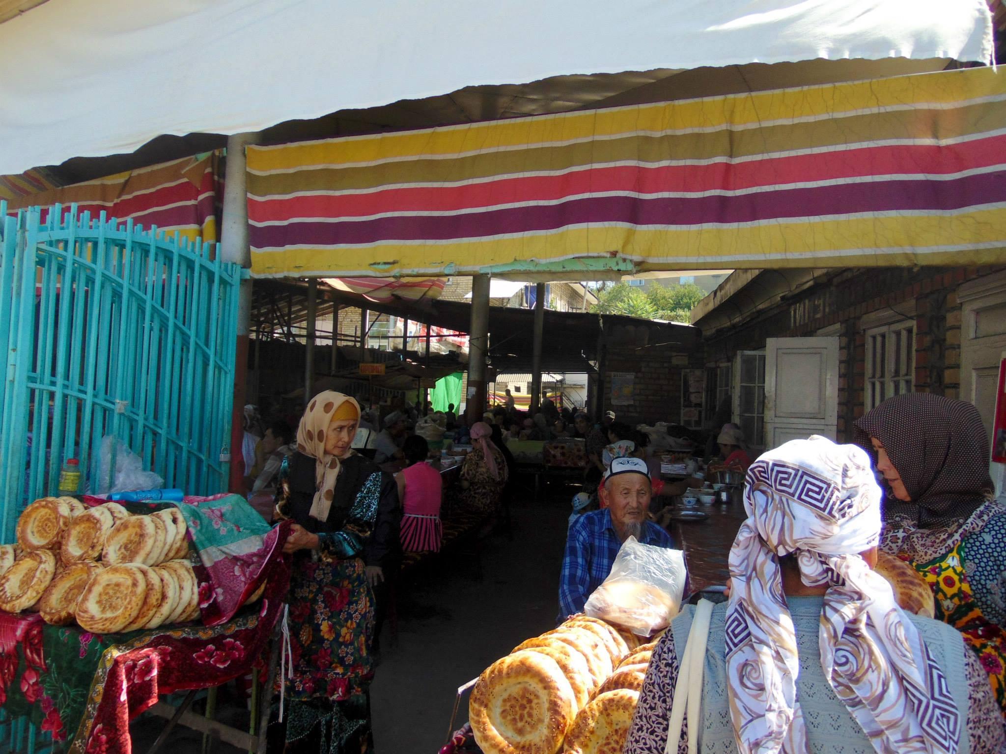 чайхана. город Ош. путешествия кати. киргизия