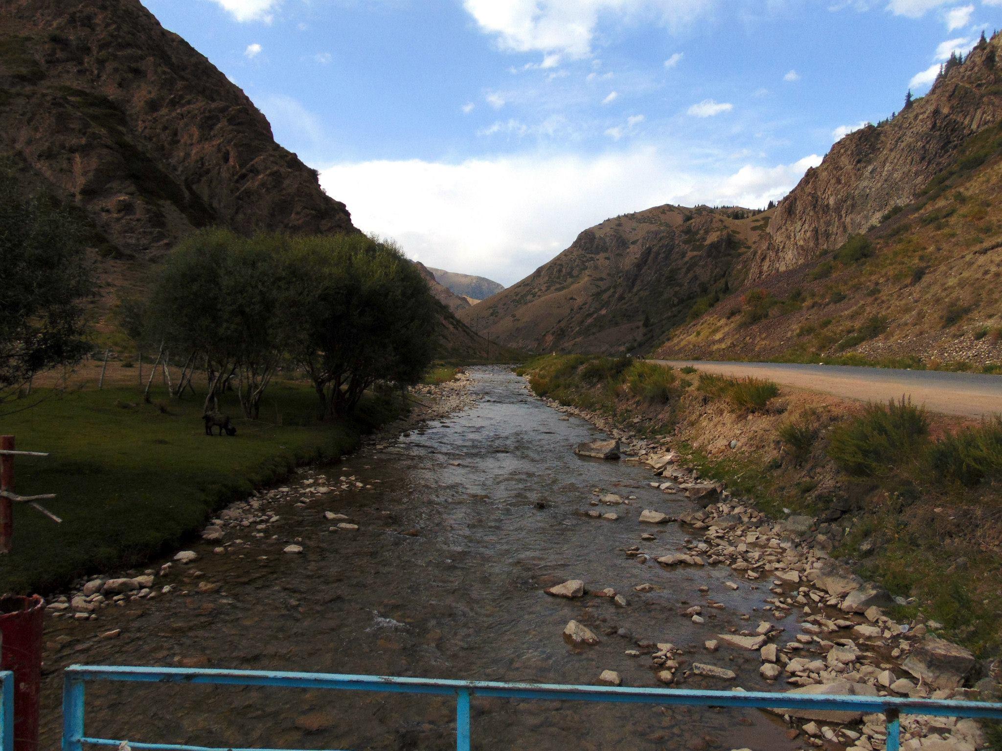 река нарын. путешествия кати. киргизия
