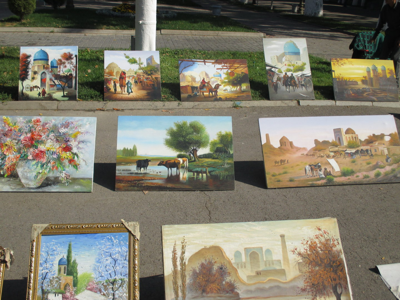 красивые картины. базар узбекистан ташкент