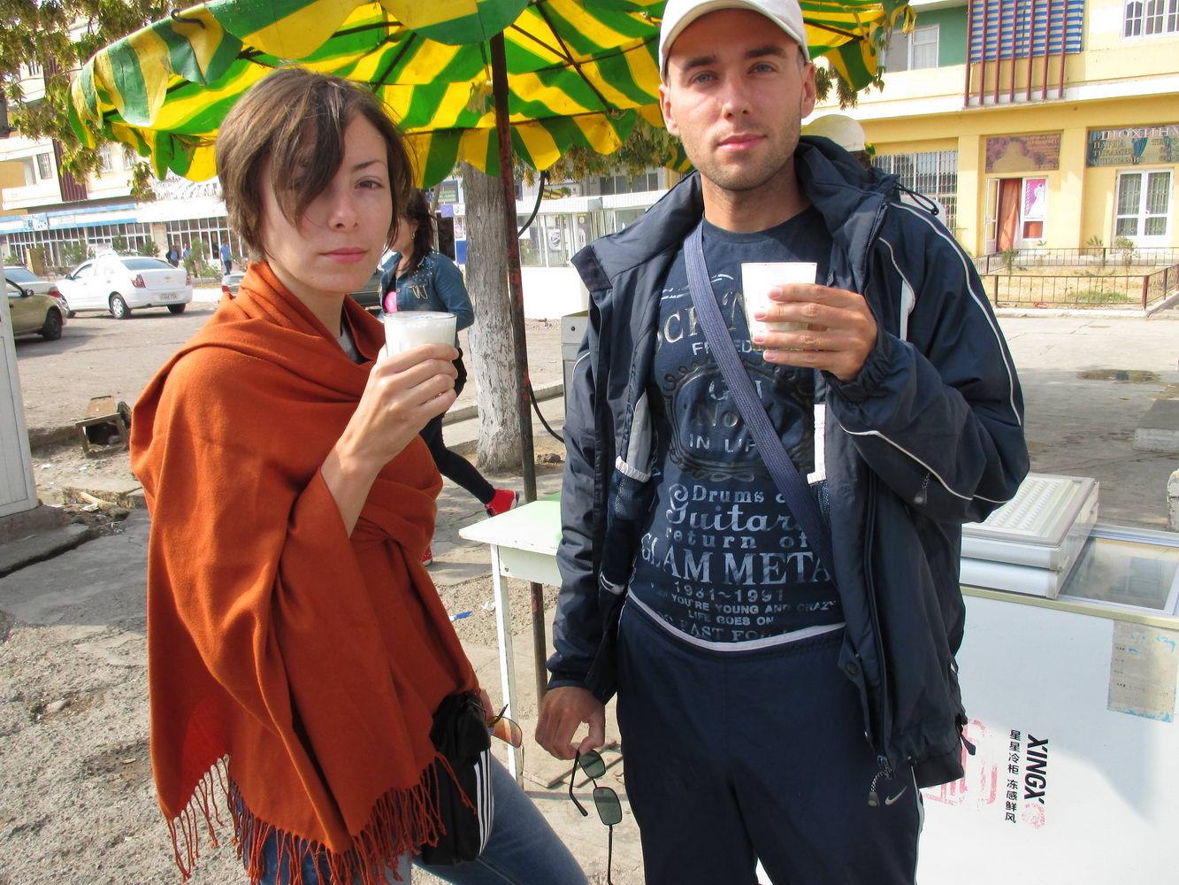 молочный коктейль. узбекистан алмалык