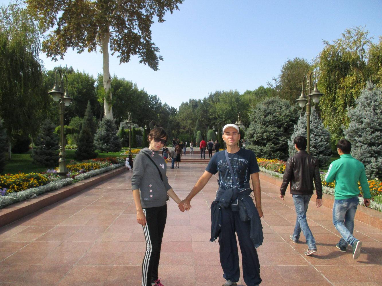 парк города. узбекистан ташкент