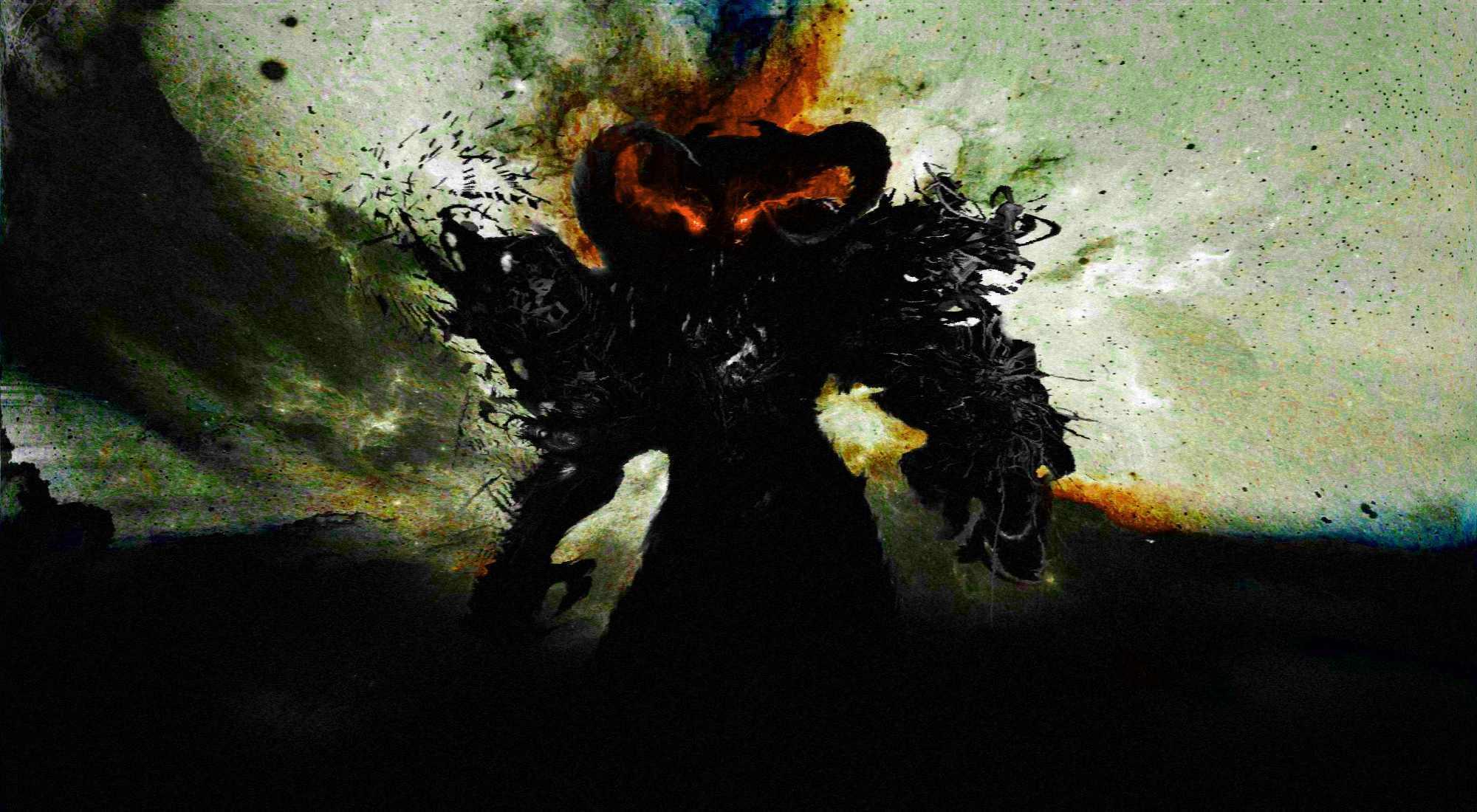 Тёмный силуэт. Чёрный демон. Осознанный сон с выходом в астрал. Пища астральной проекции