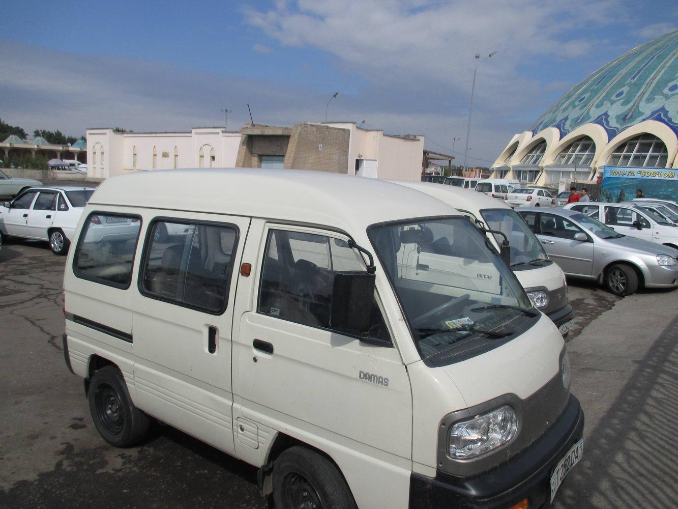 узбекский автобус дамас. путешествие автостопом в узбекистан