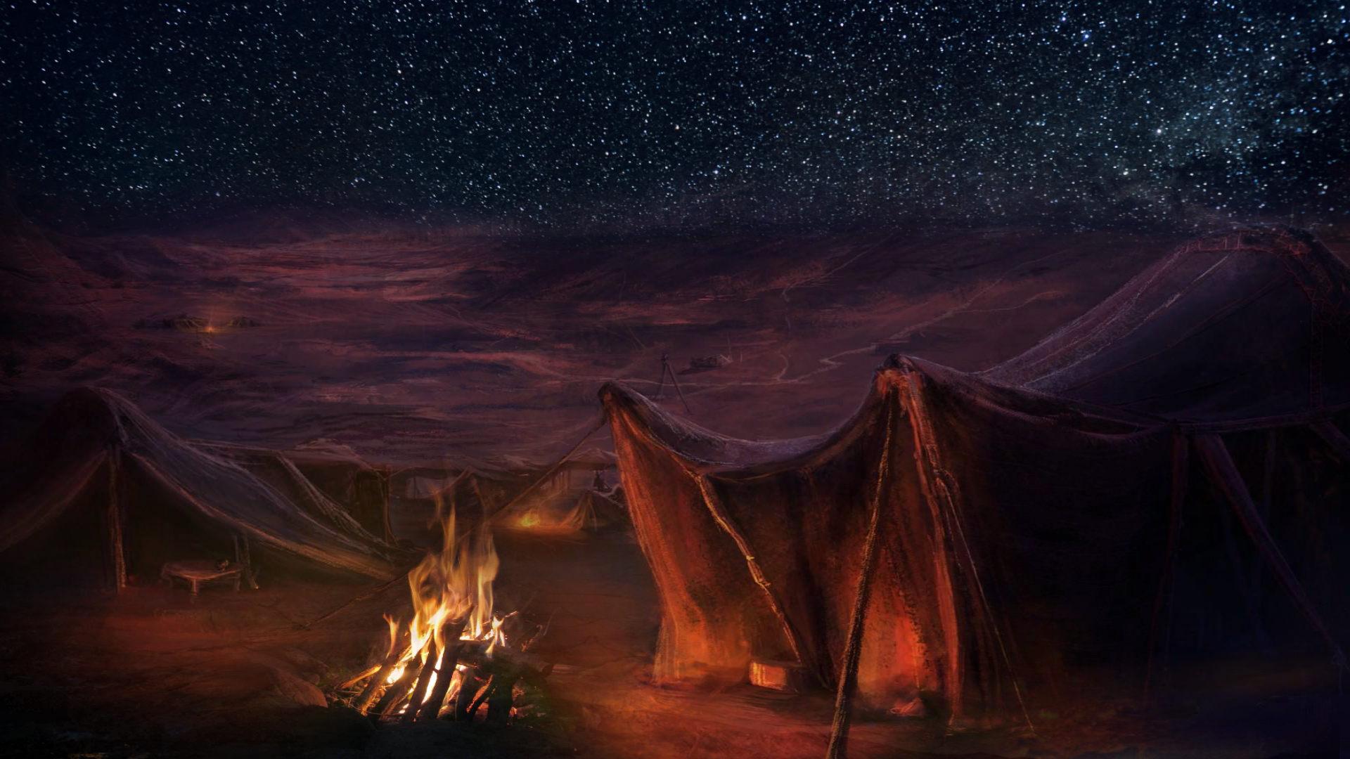 лагерь ночью, костёр и звёзды. самый редкий минерал на земле - slaveridge