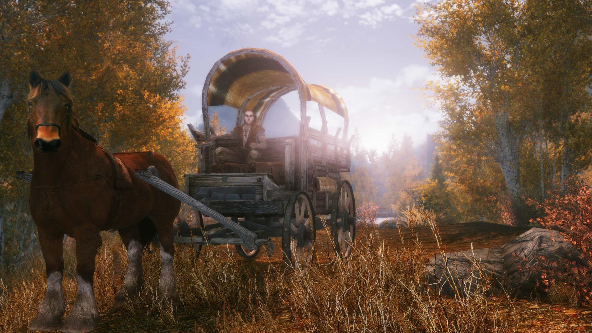 лошадь и старая повозка. самый редкий минерал на земле - slaveridge
