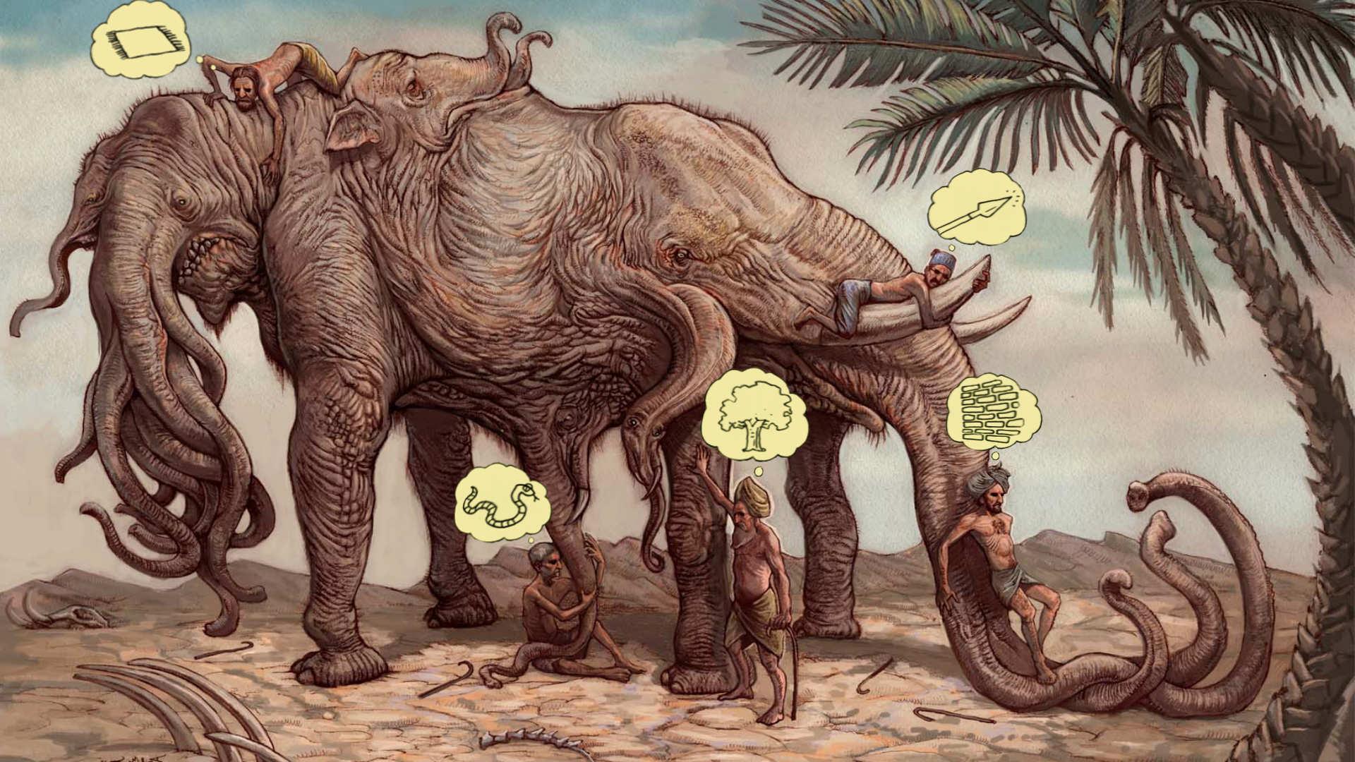 слон и слепые мудрецы. религии мира. кто такой бог. в чём смысл молитвы