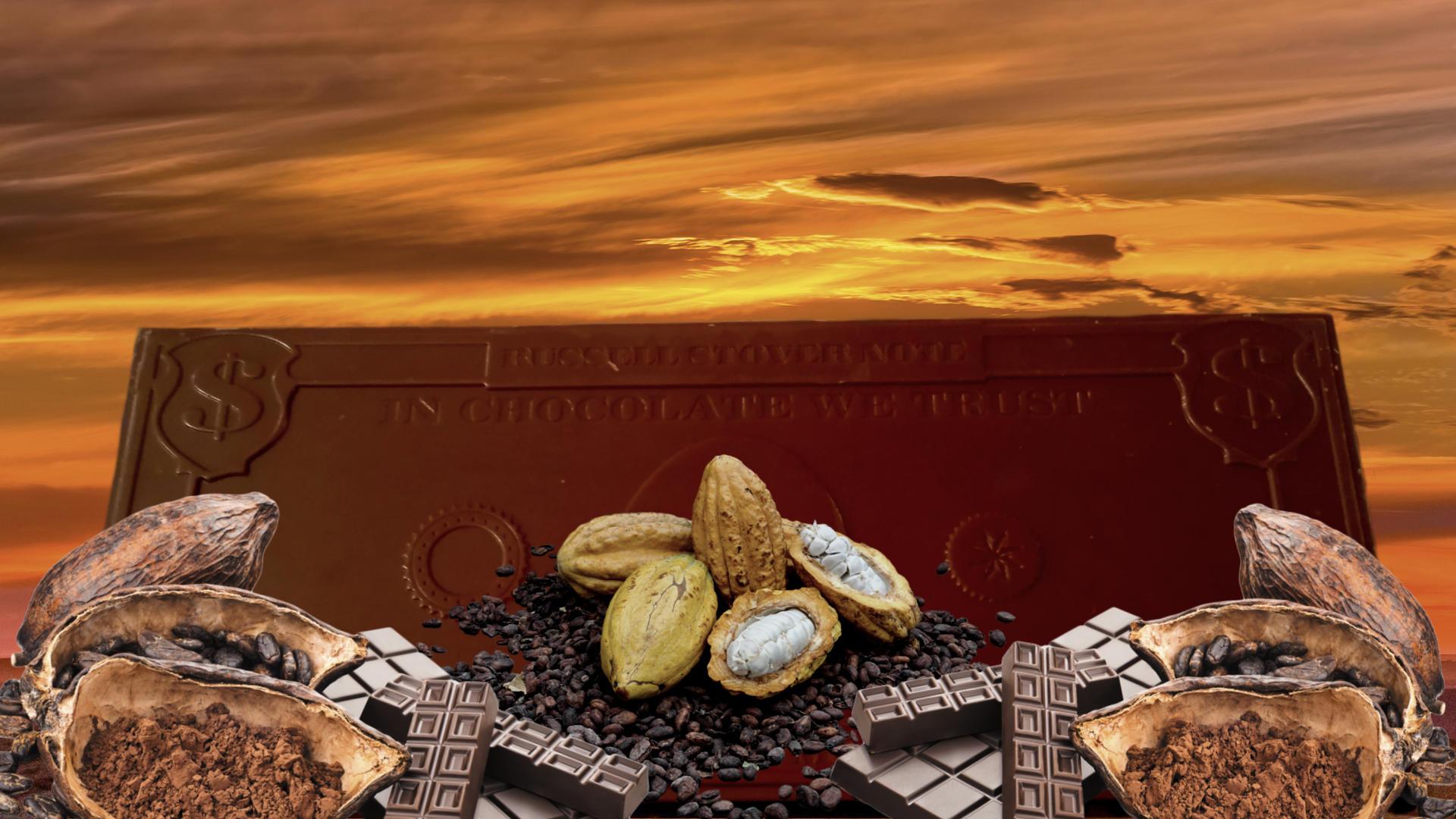 шоколадные деньги. какао бобы. третья мировая война и эволюция денег